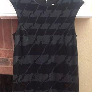 Michael Kors Sleeveless Houndstooth MEDIUM Dress